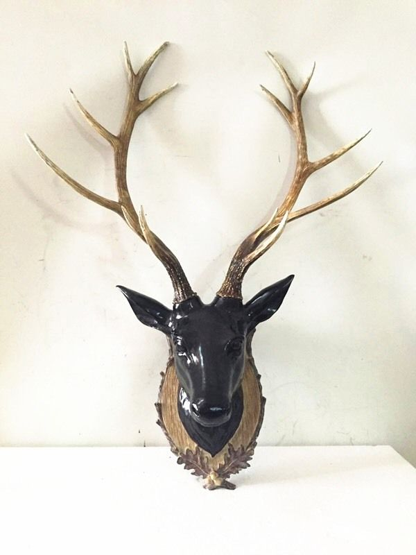 Large Resin Stags Head Animal Wall Art Wall Mounted Stag