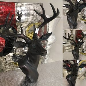 Antique Bronze Stag Ornament Wall / Floor / Table Standing