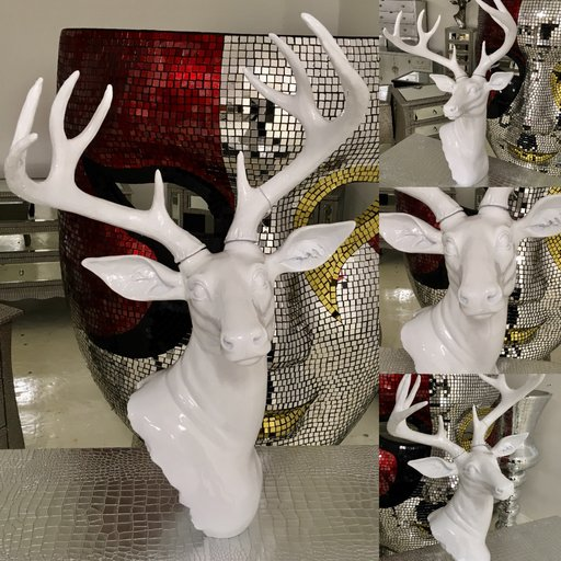 White Stag Ornament Wall / Floor / Table Standing
