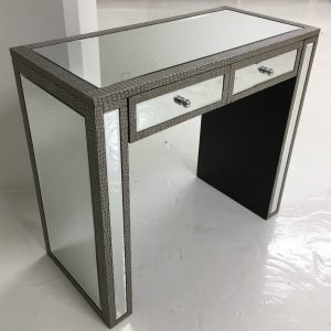 Moc Croc Effect Mirrored Dressing Table