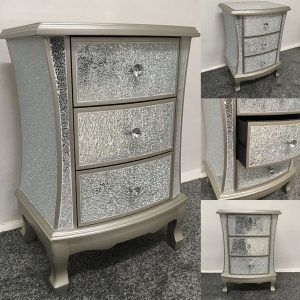 Crackle mirrored furniture
