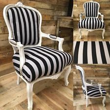 Surprising Silver Leatherette Black Frame French Louis Chair Camellatalisay Diy Chair Ideas Camellatalisaycom